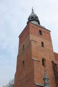 Elewacja zachodnia wieży, grudzień 2011